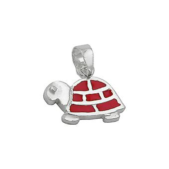 Pendant red turtle silver 925