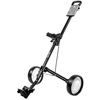 Biltek Biltek Golf Push Cart - Foldable 2-Wheeled Push Pull Golf Cart Trolley - Black