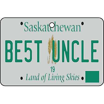 SASKATCHEWAN - Best Uncle License Plate Car Air Freshener
