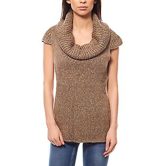Cheer sweater ladies knitting sweaters, chunky knit Brown