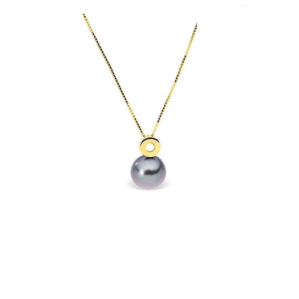 Collier Pendentif Femme en Or jaune 375 1000 et Perle de Tahiti