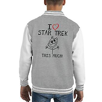 I Heart Star Trek This Much Kid's Varsity Jacket