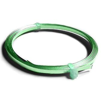 1 x Green Plated Copper 0.75 x 3mm x 1m Flat Tape Craft Wire Coil X1305