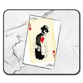 Poker misterioso ratón antideslizante alfombra Pad 24 cm x 20 cm | Wellcoda