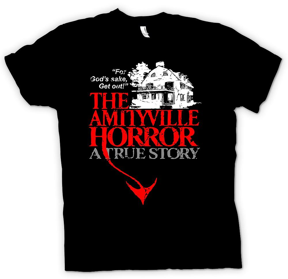 Heren T-shirt - Amityville House - Horror - film