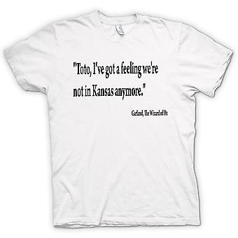 Mens T-shirt - The Wizard Of Oz - Quote