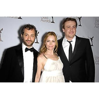 Judd Apatow Leslie Mann Jason Segel At Arrivals For 2010 Writers Guild Of America West Coast Awards - Arrivals Hyatt Regency Century Plaza Hotel Los Angeles Ca February 20 2010 Photo By Michael German