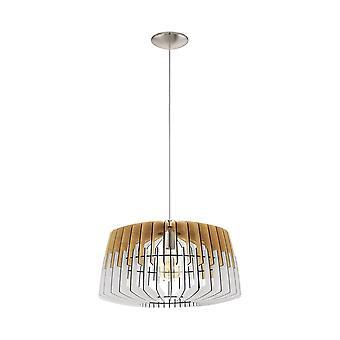 Eglo plafond hanger met enkele lichte Dia: 480 natuur wit/matte nikkel Artana