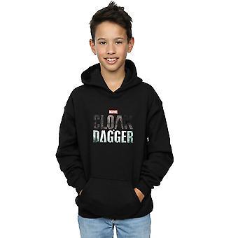 Marvel Boys Cloak And Dagger Logo Hoodie