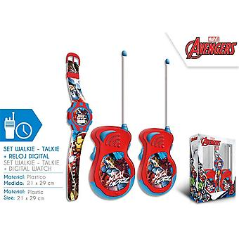 Avengers walkie - talkies + wristwatch set