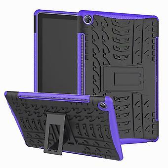 For Huawei MediaPad M5 10,8 / 10,8 Pro hybrid utendørs beskyttelsesdeksel tilfelle lilla coveret veske