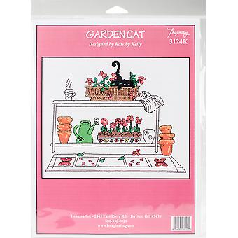 Garden Cat Counted Cross Stitch Kit-9.5
