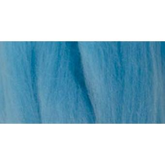 Natural Wool Roving .3oz-Light Blue