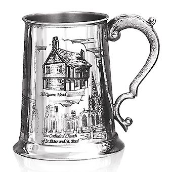 Sheffield Scenes Pewter Tankard - 1 Pint