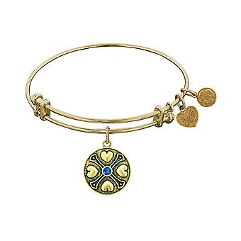 Finish Brass September Birthstone Angelica Bangle Bracelet, 7.25