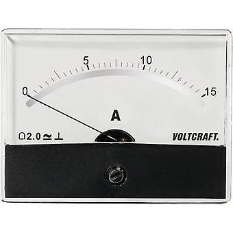 Analogue rack-mount meter VOLTCRAFT AM-86X65/15A/DC