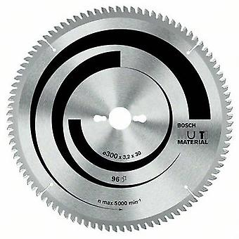 Carbide metal circular saw blade 254 x 30 x 3.2 mm Number of cogs: 96 Bosch Accessories Multi Material 2608640451 1 pc(s