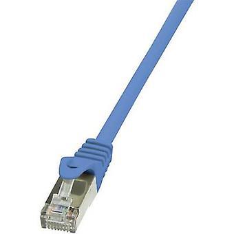 LogiLink RJ45 Networks Cable CAT 5e F/UTP 1 m Blue incl. detent