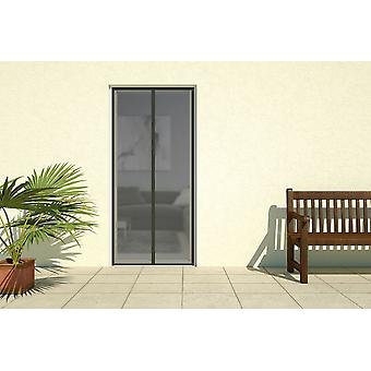 Insect-protection door fly screen door magnetic strips curtain 100 x 220 cm in black