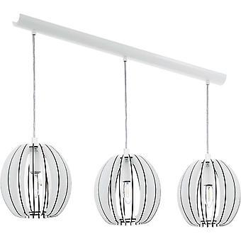Eglo Cossano dreifach Pendant von White Wash Holz Globus Schattierungen