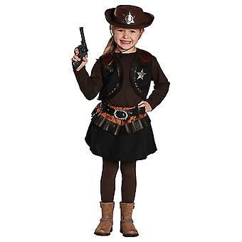 Costume Cowgirl Western Little pour filles black