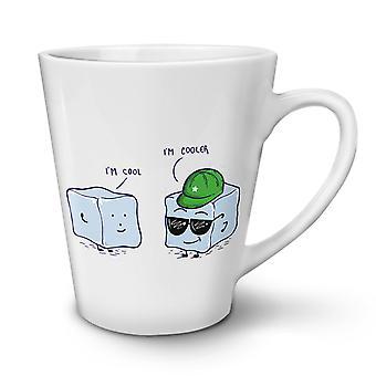 Cool Ice Cube NEW White Tea Coffee Ceramic Latte Mug 17 oz | Wellcoda