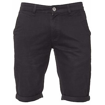 Mens Black Casual Chino Shorts | Enzo-Designer Herrenmode