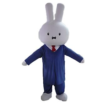 mascot SPOTSOUND of rabbit white, dressed in a suit tie