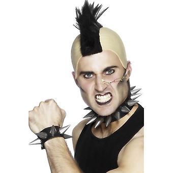 Smiffy's Punk Choker And Wristband