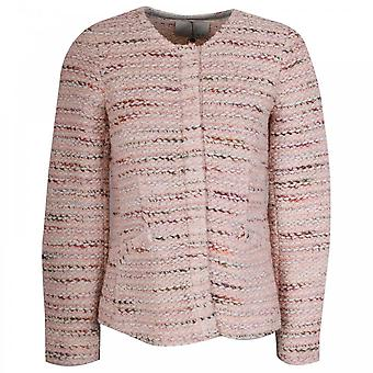Oui Pink Multi Textured Fitted Jacket