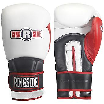 Ringside Boxing Pro Style IMF Tech Training Gloves - 16 oz - White/Black/Red