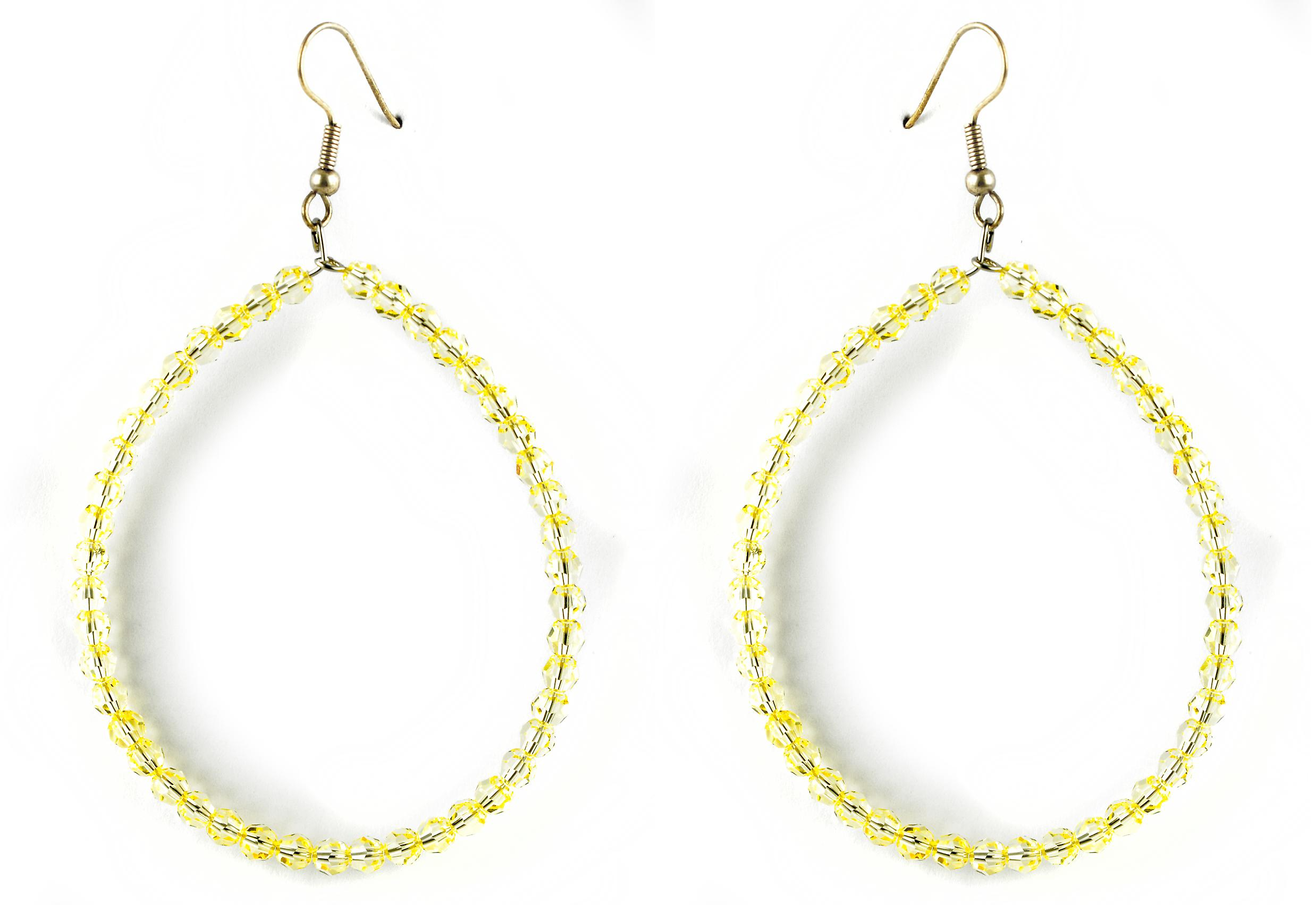 Waooh - jewelry - WJ0734 - Style Creole with Swarovski yellow crystal earrings