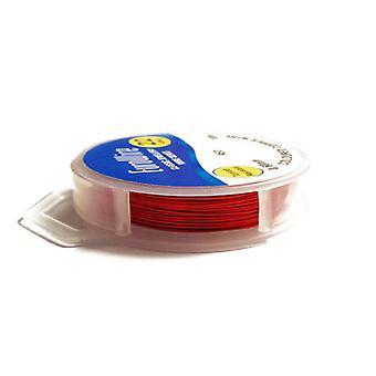 1 x rød forgyldt kobber 0,4 mm x 20 m runde håndværk Wire hængende hjuls X1035