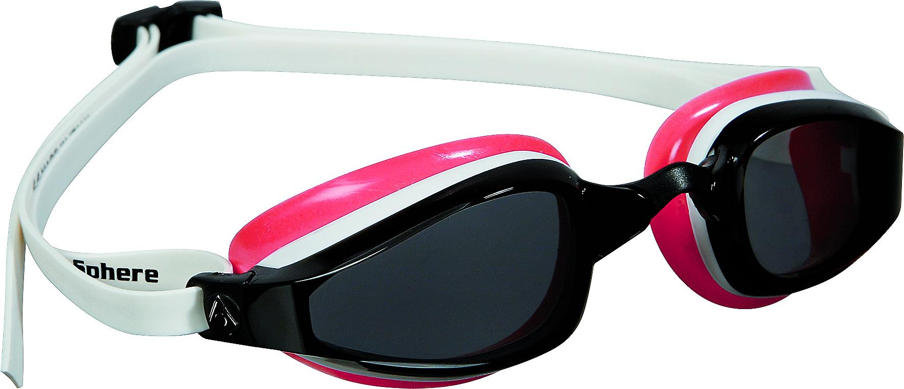 Aqua Sphere K180 Ladies Swimming Goggle - Smoke Lenses - White/Red