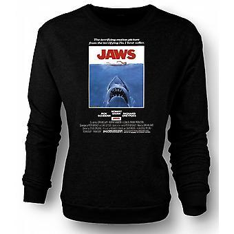 Mens Sweatshirt Jaws - Horror - Shark - B Movie - Poster