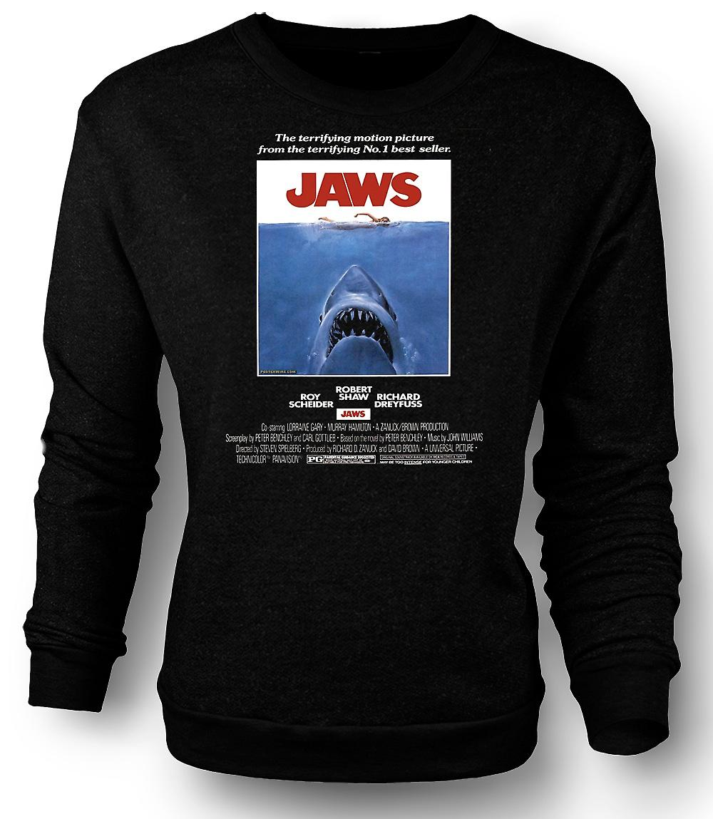 Mens Sweatshirt Jaws - Horror - hai - B-film - plakat