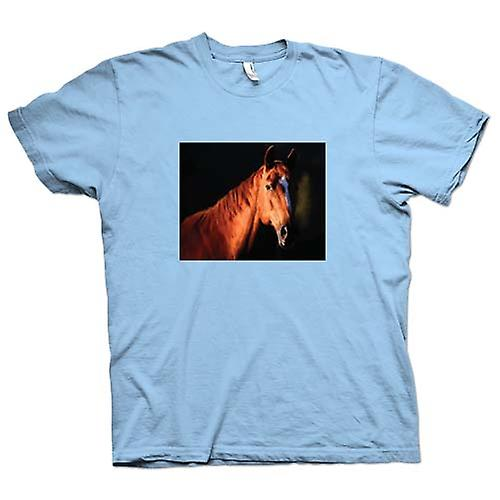 Mens T-shirt - Brown Horse Portrait