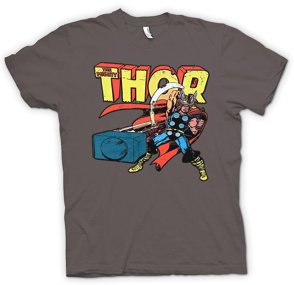 Womens T-shirt-der mächtige Thor In Aktion