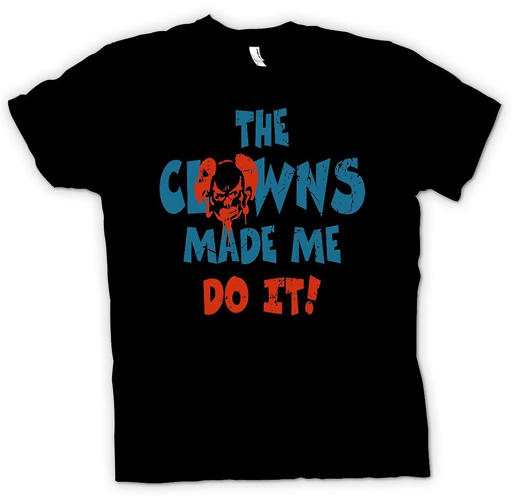 Kids T-shirt - The Clowns Made Me Do It - Funny