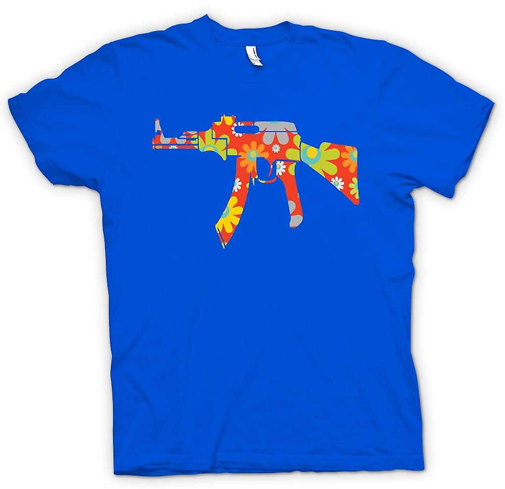 Mens T-shirt - AK47 Hippie Peace - lustig