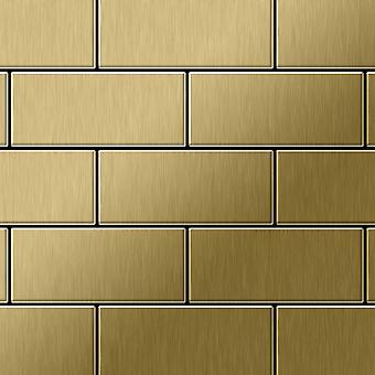 Metal mosaic Titanium ALLOY Subway-Ti-GB