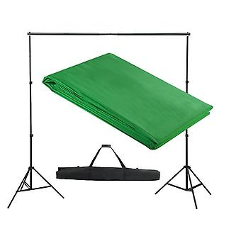 Kit complet studio photo + fond vert sans coutures 3x3 m photo vidéo studio professionnel 1802011