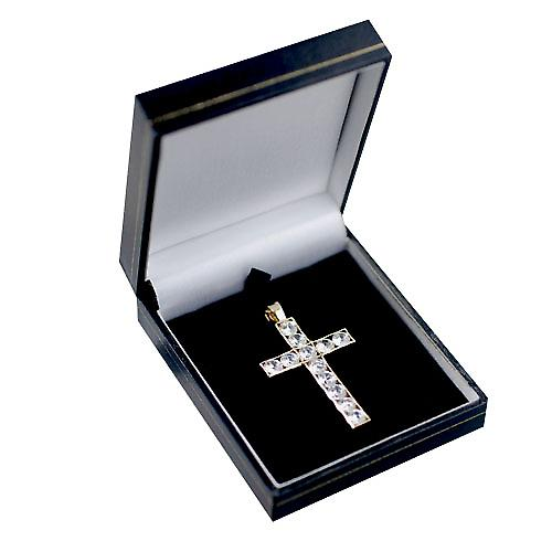 9ct Gold 25x16mm Apostel's Cross set met 12 Zirkoon