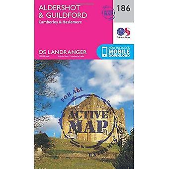 Aldershot & Guildford, Camberley & Haslemere (OS Landranger Map)