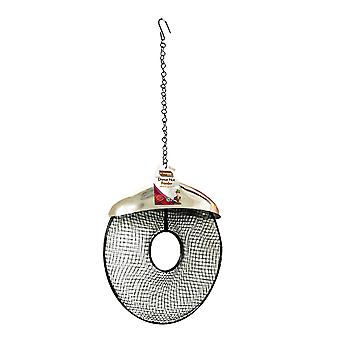 Natures Market BF035 Stainless Steel Metal Nut Peanut Doughnut Shaped Wild Bird Feeder