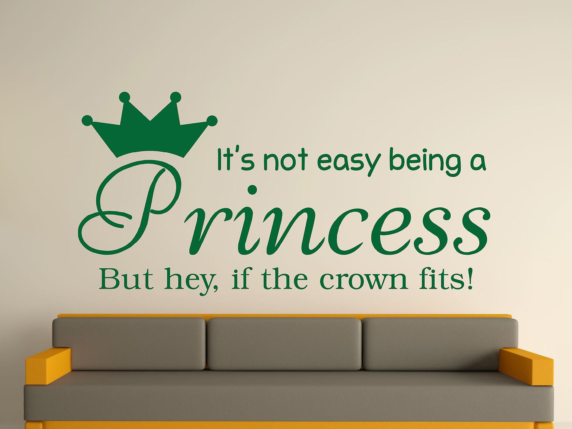 Being A Princess Wall Art Sticker - Racing Green