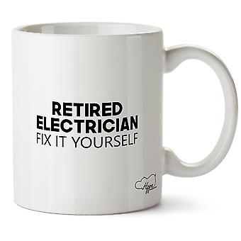 Hippowarehouse Retired Electrician Fix It Yourself Printed Mug Cup Ceramic 10oz