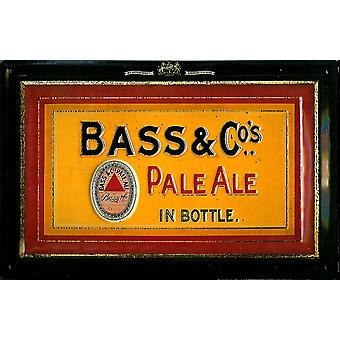 Bass & Co Pale Ale preget metall tegn (Hei 3020)