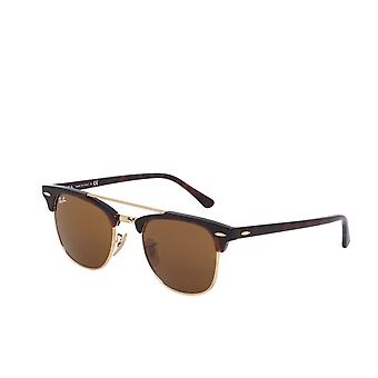 Ray Ban Clubmaster Double-Bridge Gold Sunglasses