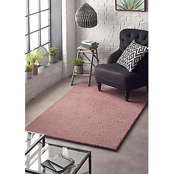 Lśniące różowy prostokąt dywany zwykłym/prawie zwykły dywany